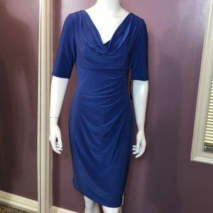 Lauren Ralph Lauren Cowl-neck Stretch Jersey Dress